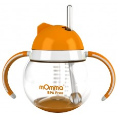 Lansinoh mOmma Straw Cup with Dual Handles Orange 不倒翁杯 橙色
