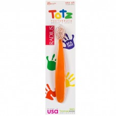 Radius Totz Extra Soft Toothbrush 18+ Months - Orange Sparkle 橙色小童特軟牙刷